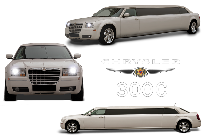 chrysler 300c white limousine rental limo king limo king. Black Bedroom Furniture Sets. Home Design Ideas